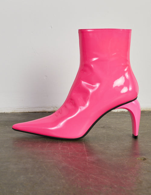 Vinyl Slicer Ankle Boot