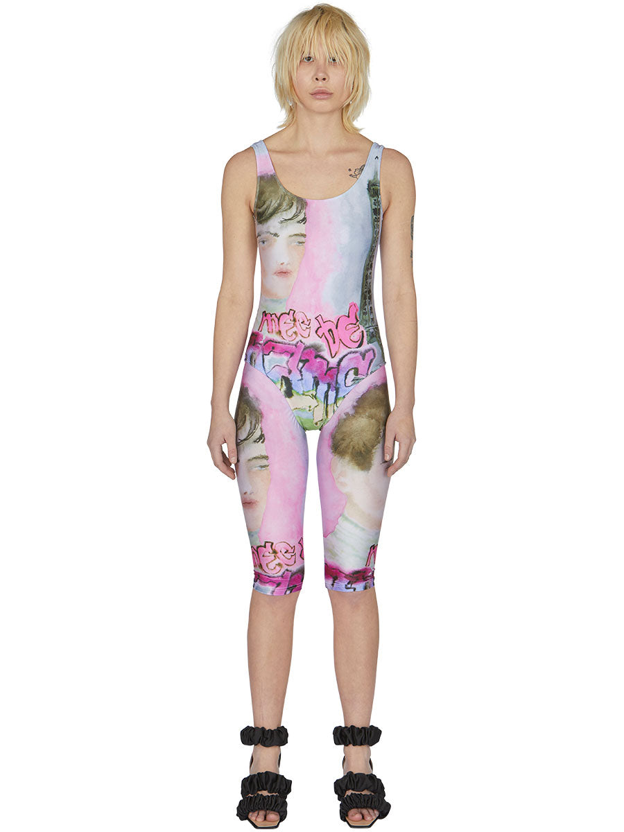 odd92 Neith Nyer Spring/Summer 2019 Womenswear Visage Print Cycling Shorts - 2