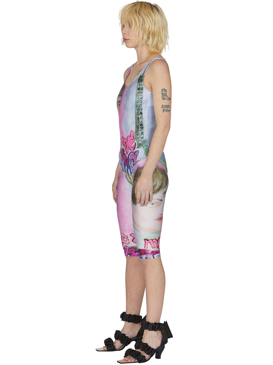 odd92 Neith Nyer Spring/Summer 2019 Womenswear Visage Print Cycling Shorts - 3