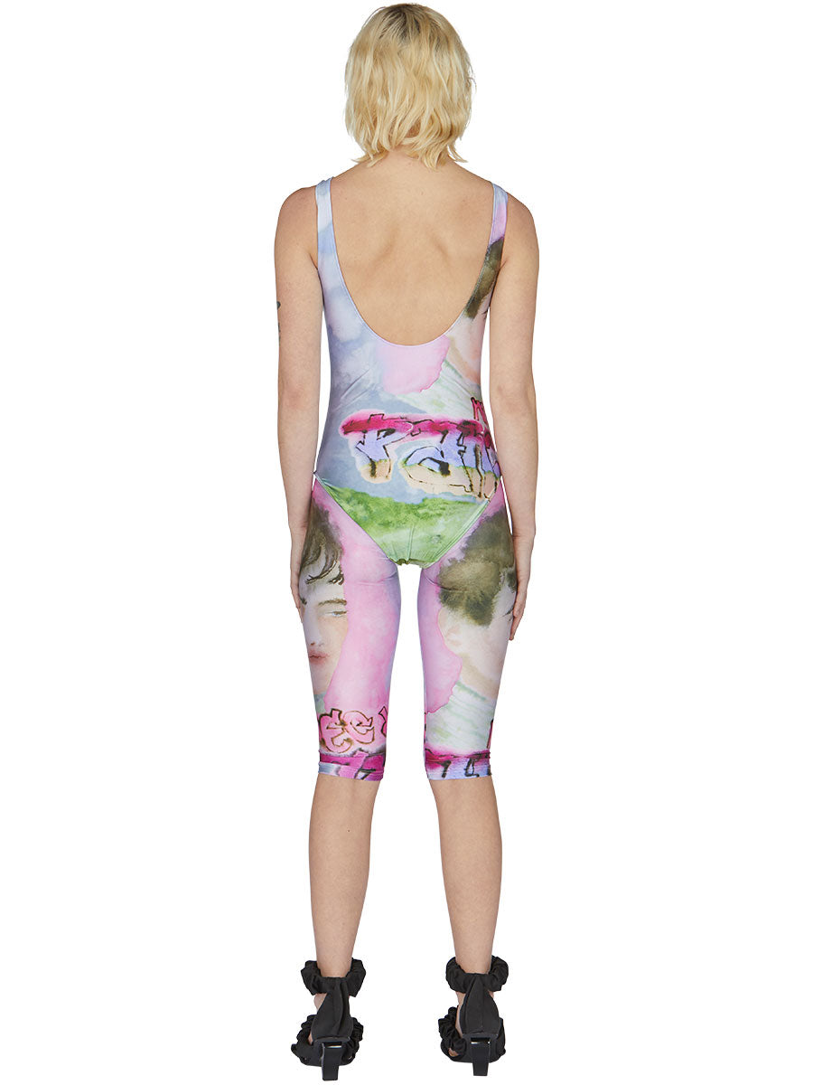 odd92 Neith Nyer Spring/Summer 2019 Womenswear Visage Print Cycling Shorts - 4