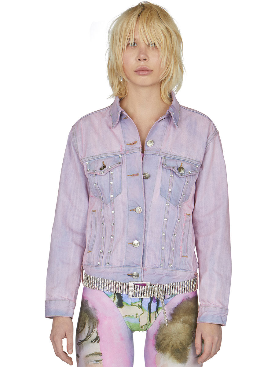 odd92 Shop Neith Nyer Spring/Summer 2019 Womenswear Tie Dye Crystal Denim Jacket - 6