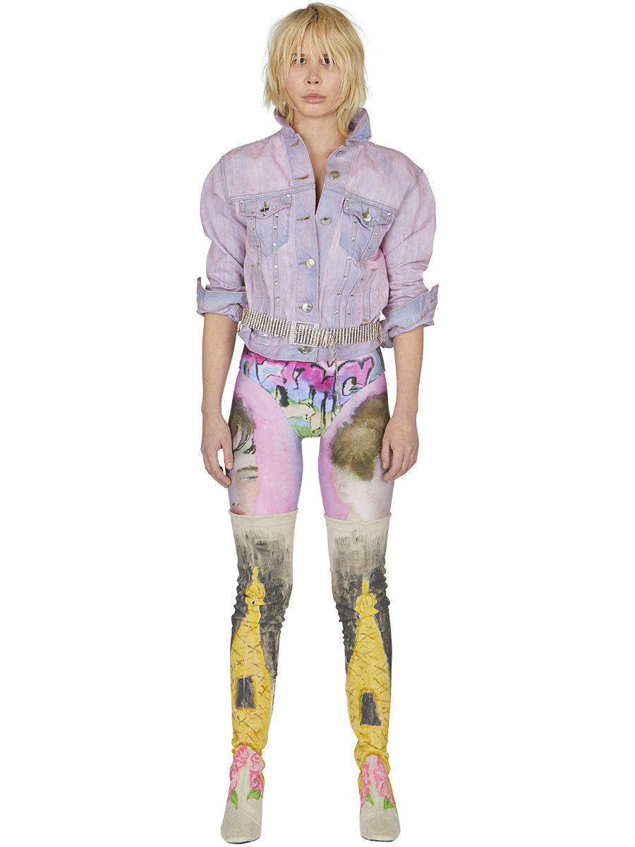 odd92 Shop Neith Nyer Spring/Summer 2019 Womenswear Tie Dye Crystal Denim Jacket - 2