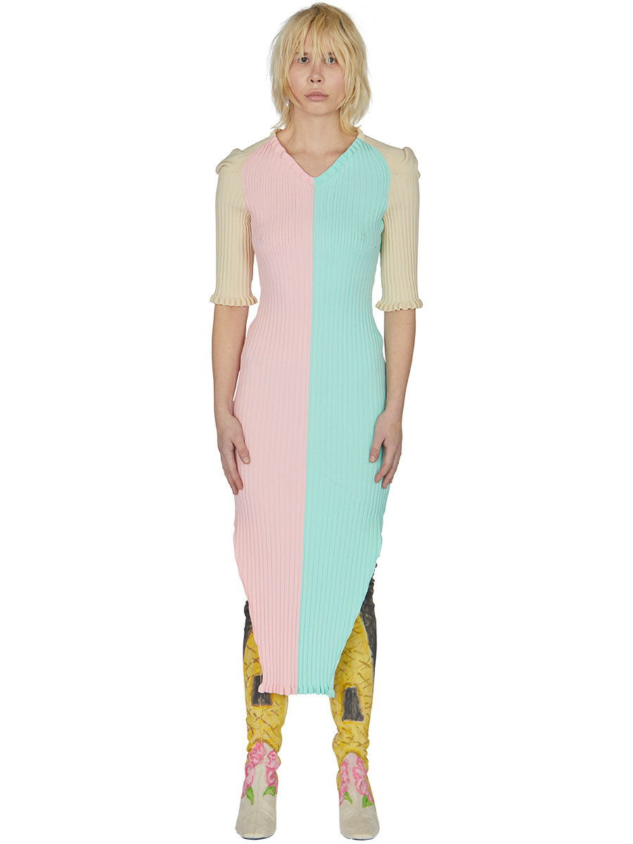 odd92 Neith Nyer Spring/Summer 2019 Womenswear Bicolor Knit Dress - 6