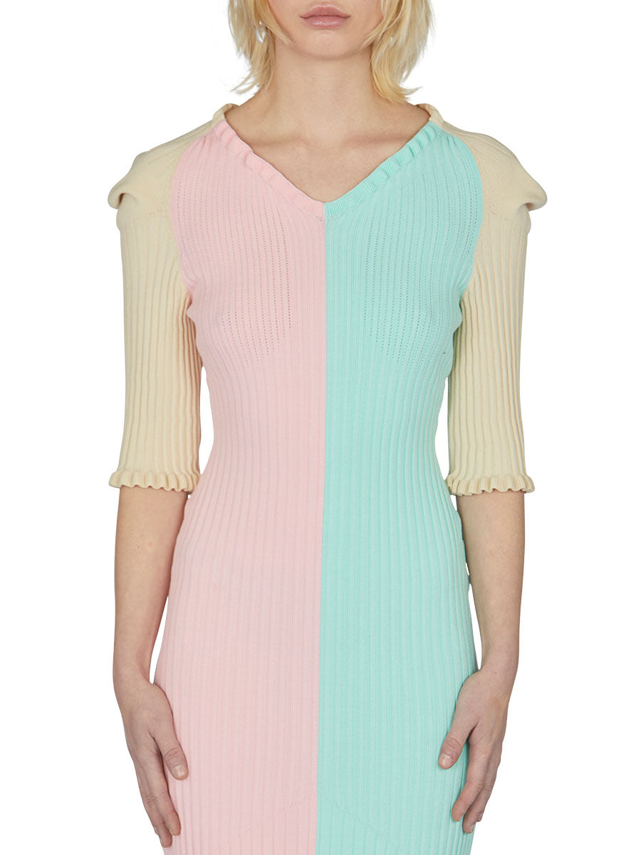 odd92 Neith Nyer Spring/Summer 2019 Womenswear Bicolor Knit Dress - 3