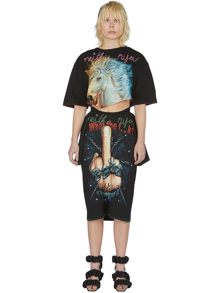 odd92 Shop Neith Nyer Spring/Summer 2019 Womenswear F*CK Finger T-Skirt - 3