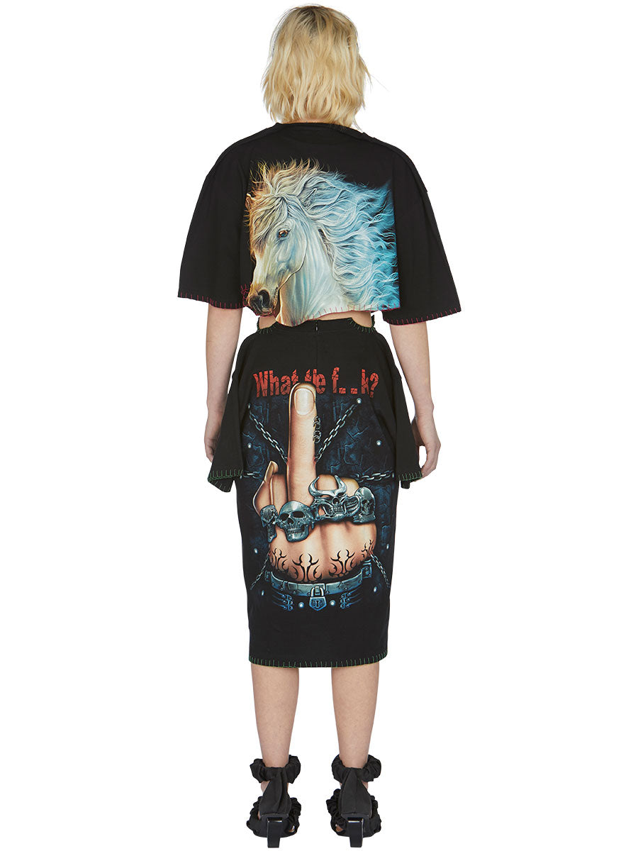 odd92 Shop Neith Nyer Spring/Summer 2019 Womenswear F*CK Finger T-Skirt - 6