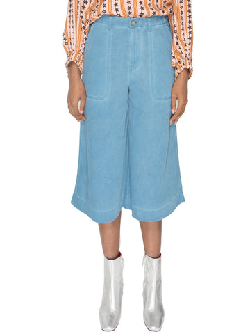 Wave Denim Culottes