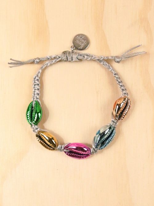 Rainbow Metallic Shell Bracelet