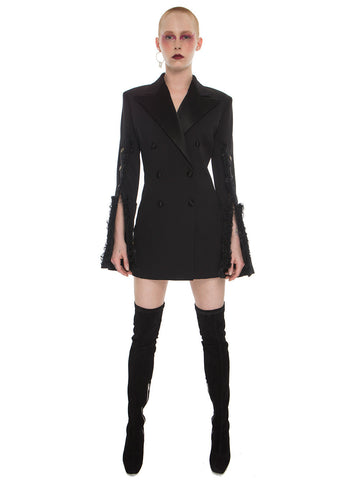 Extended Sleeve Jacket Dress