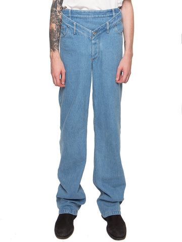 High-Waisted V-Front Jeans