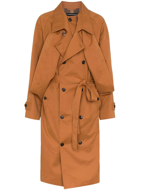 Double Front Trench Coat