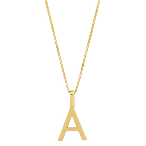 Tai Fine 14k Gold Initial Charm Necklace
