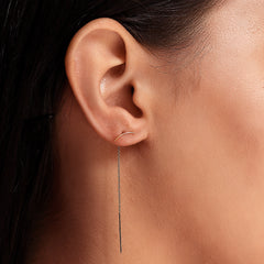 SIMPLE CURVED BAR THREADER EARRINGS