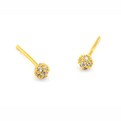 MINI PAVE BALL POST EARRINGS