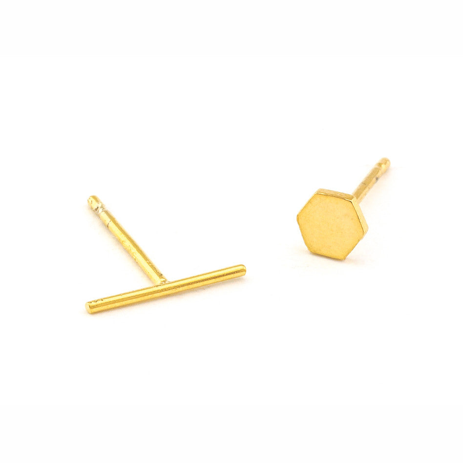 MISMATCHED HEXAGON STICK STUDS