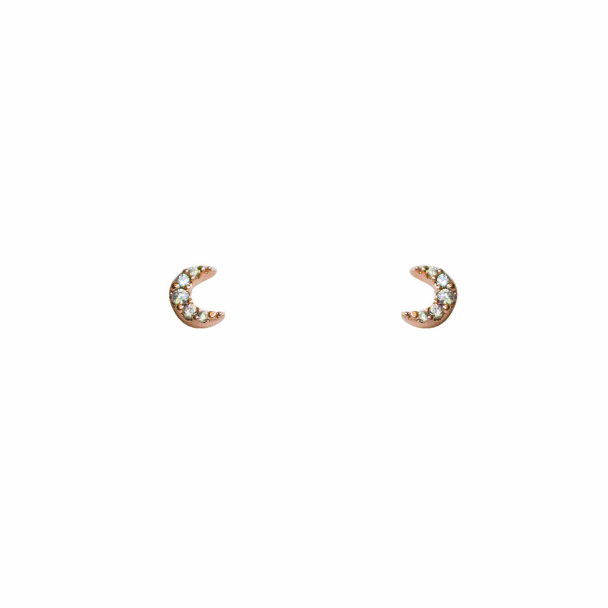 MINI PAVE MOON EARRINGS