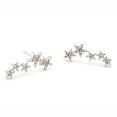 PAVE 5 STAR EARRINGS