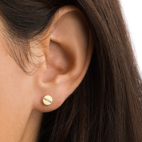 PAVE SCREW EARRINGS