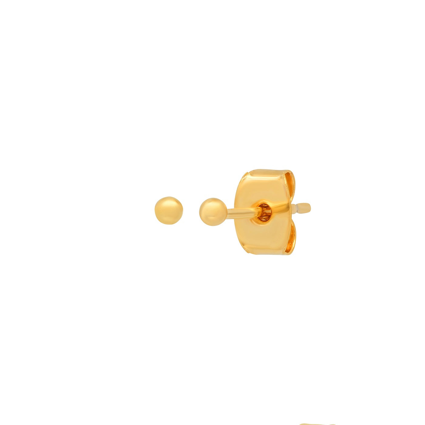 2MM Gold Ball Earring