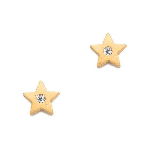 Star Studs with CZ Accent
