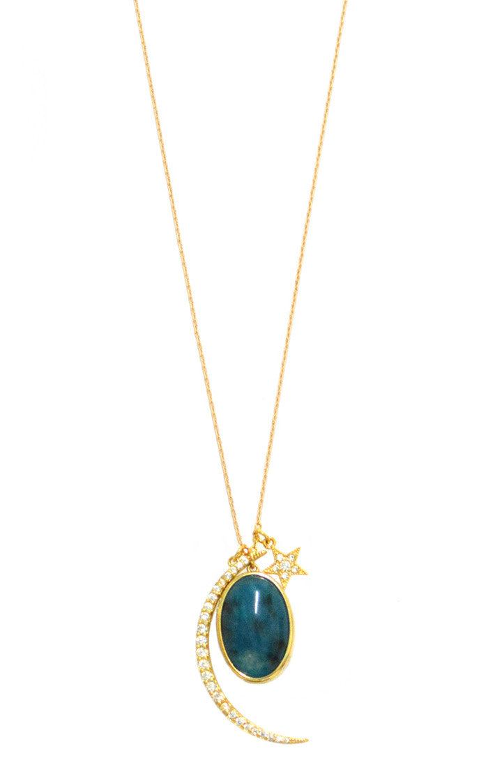 GOLD CELESTIAL CHARM NECKLACE