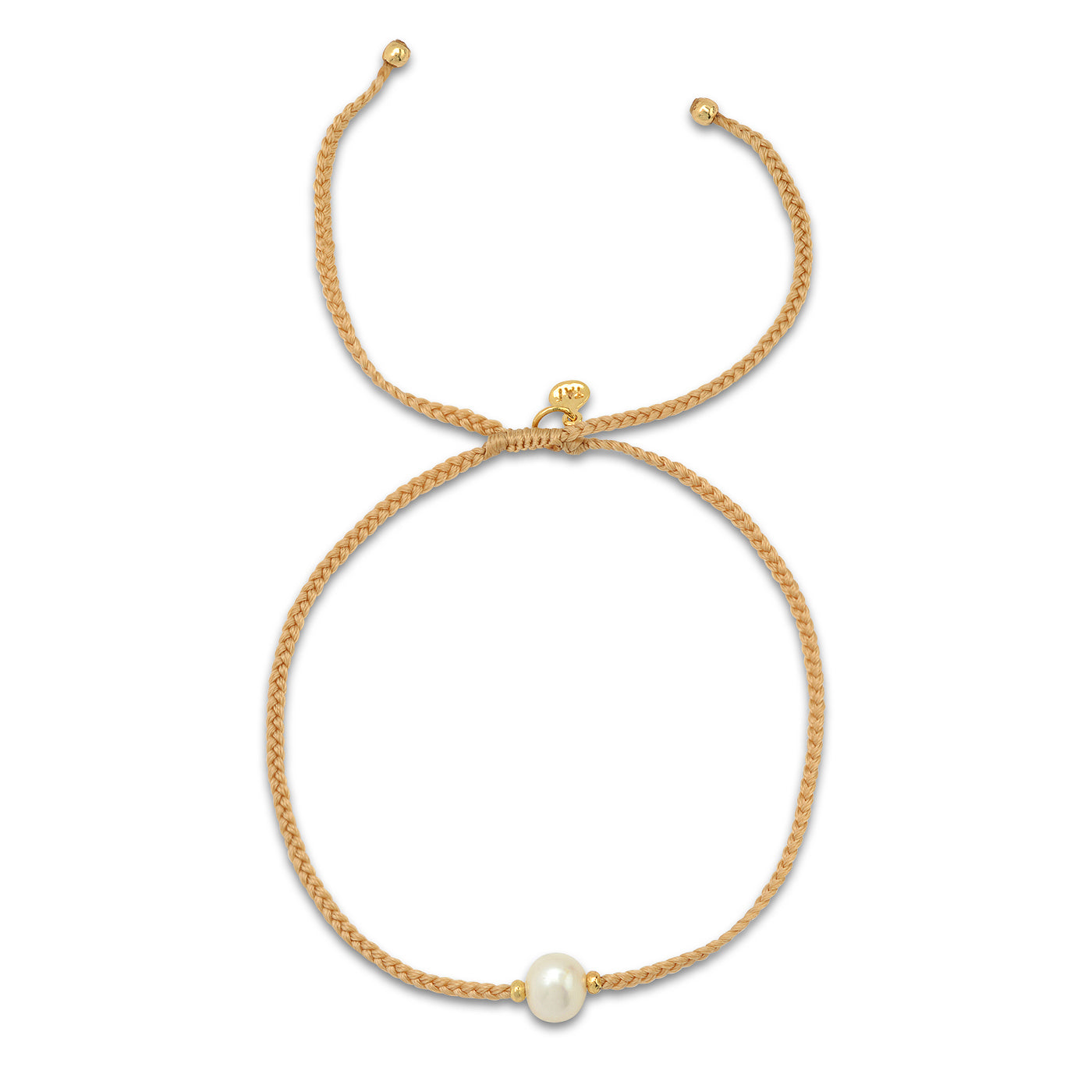 Single Pearl Pull-Tie Bracelet