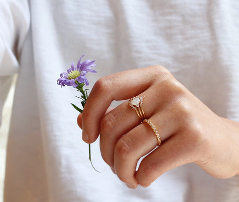Stackable Crown Ring Set