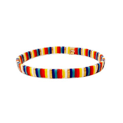 Handmade Multi-Colored Tila Stretch Bracelets