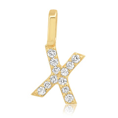 Tai Fine 14k Gold Initial Pendant with Diamonds