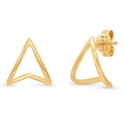 Tai Fine 14k Gold Jacket Stud Earrings