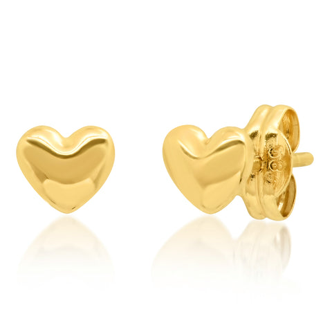 Tai Fine 14k Gold Heart Earrings
