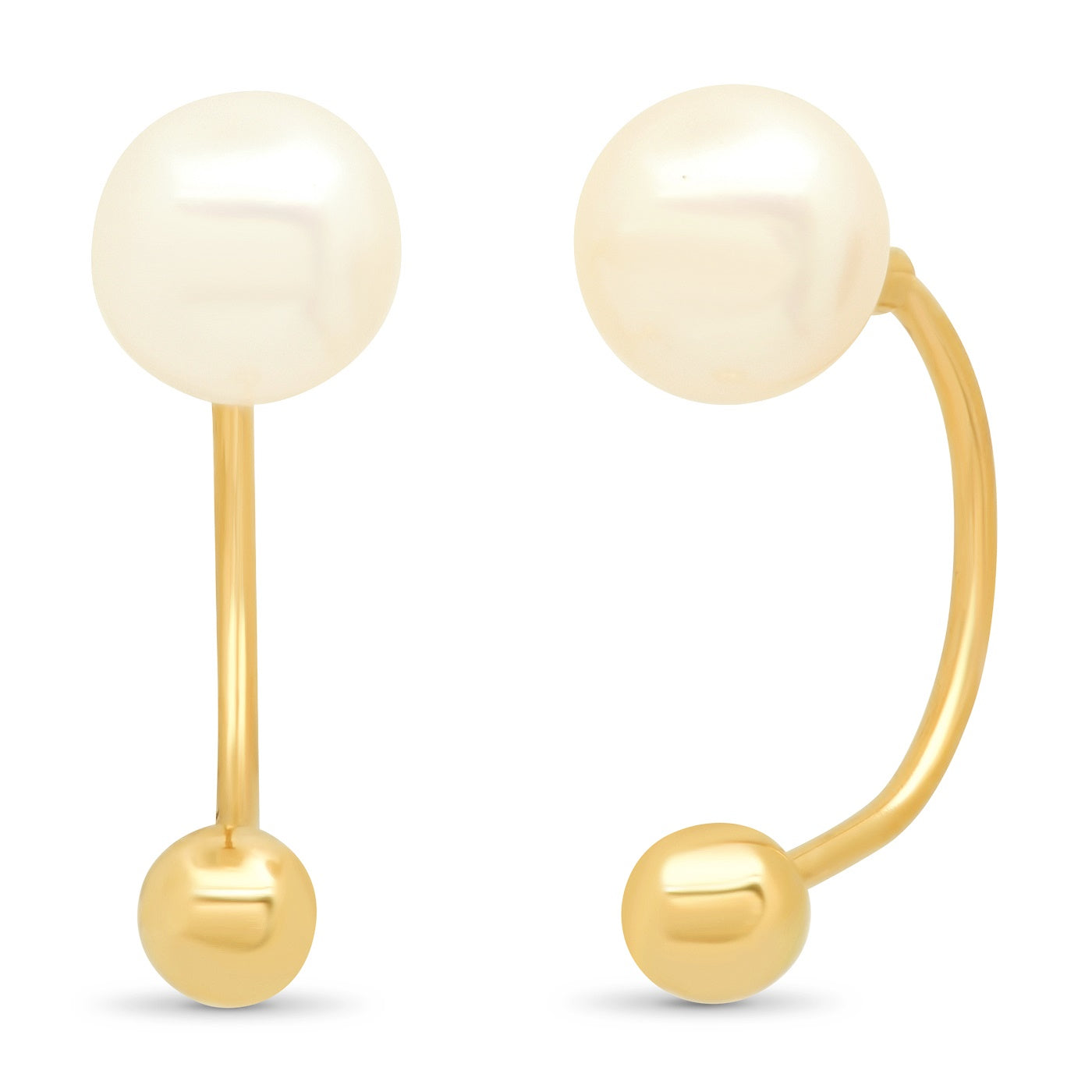 14K Gold and Freshwater Pearl Ear Jacket