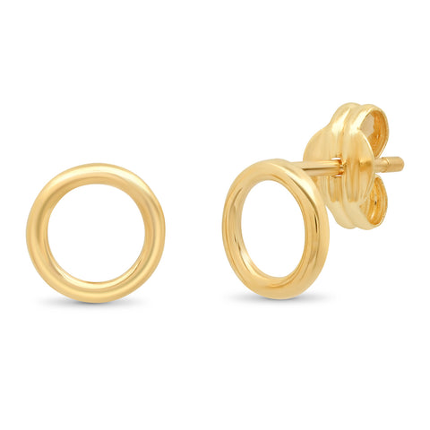 Tai Fine 14k Gold Open Circle Studs