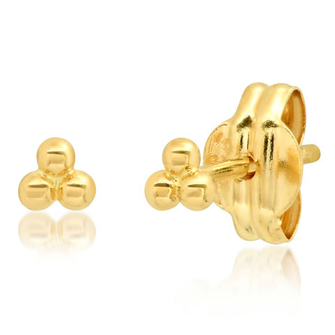 Tai Fine 14k Gold Cluster Earrings
