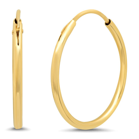 Tai Fine 14K Gold 14MM Huggies