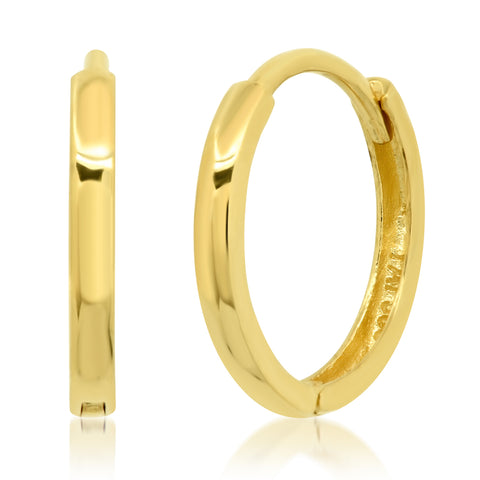 Simple 14K Gold Huggie