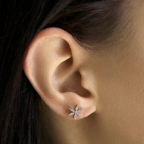 FLOWER POST EARRING