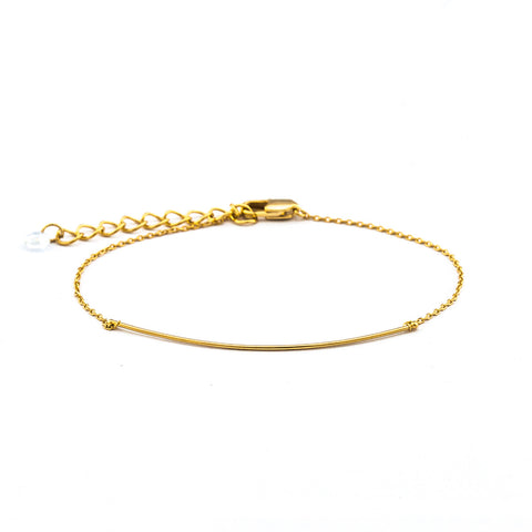 ADJUSTABLE SINGLE CHAIN BRACELET WITH SOLID BAR