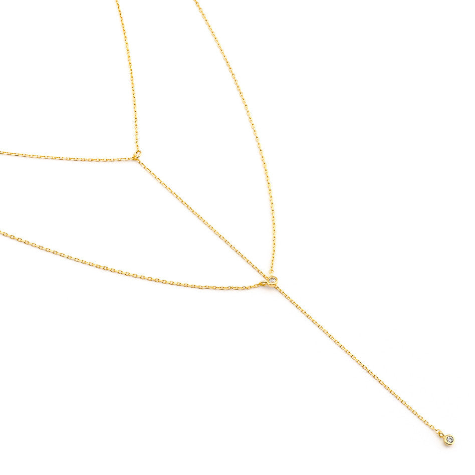 SIMPLE CZ LAYERED NECKLACE
