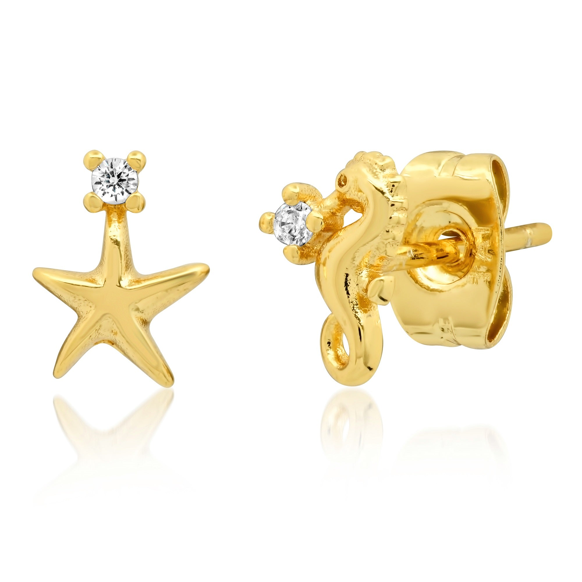 Starfish and Seahorse Mismatched Studs