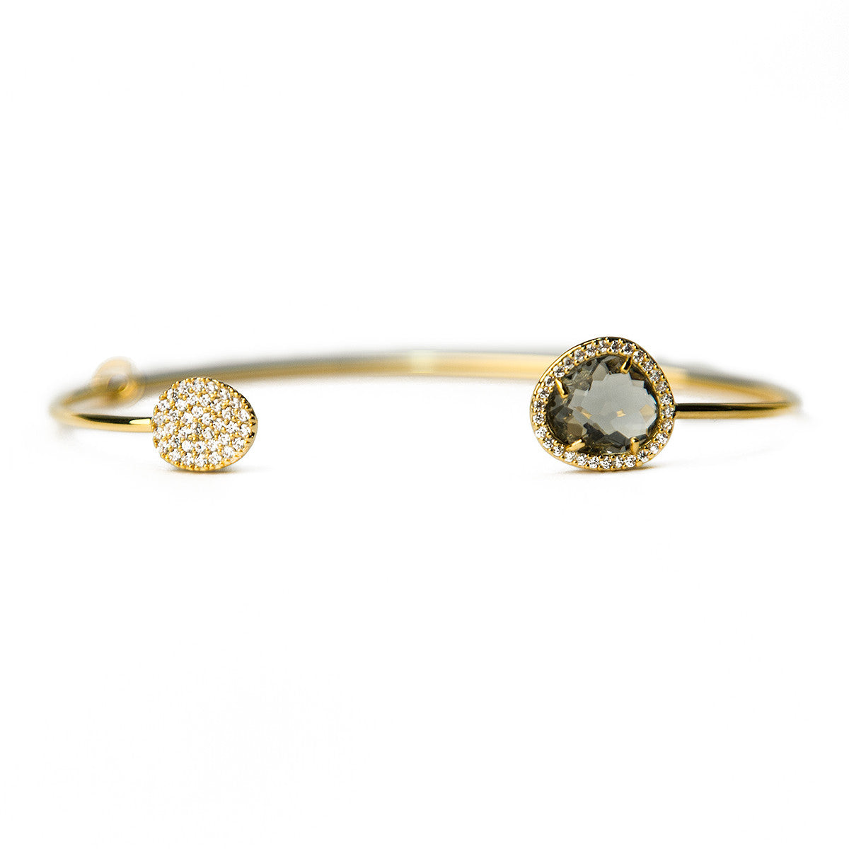 GLASS WITH PAVE CUFF BRACELET