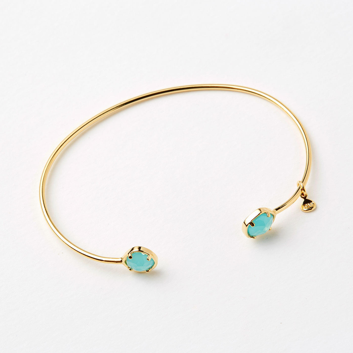 this made on dainty set pin bracelet turquoise stone fill bezel delicate a colored is gold