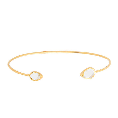 TEAR SHAPED OPEN BRACELET