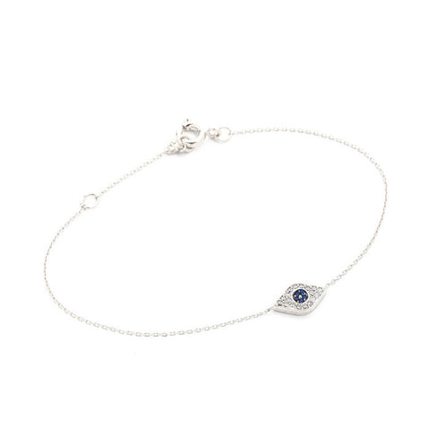 CHAIN BRACELET WITH EVIL EYE