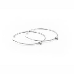LARGE HOOP EARRING WITH CZ CHARM