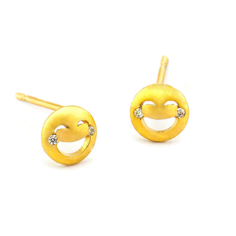 LAUGH UNTIL YOU CRY EMOJI STUDS