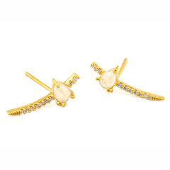 OFF WHITE STONE CLIMBER EARRING