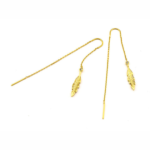 LEAF THREADER EARRING