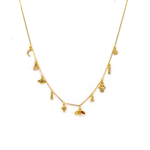 HAMSA GOLD CHARM NECKLACE