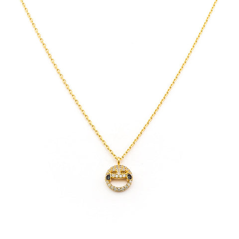 SIMPLE CHAIN NECKLACE WITH LAUGH UNTIL YOU CRY EMOJI